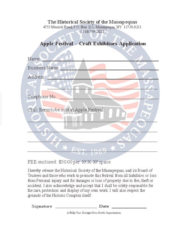 Apple Festival -- Craft Exhibitor Application